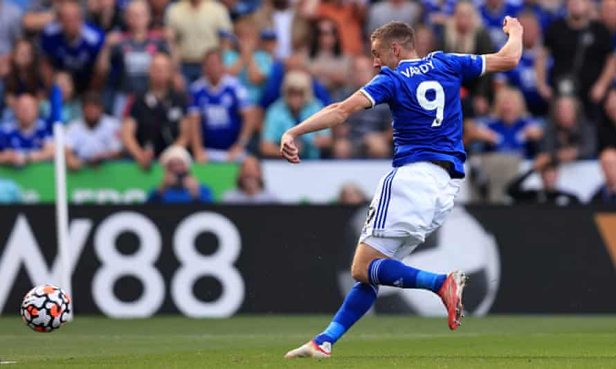 Jamie Vardy saw his goal chalked off by VAR for offside.