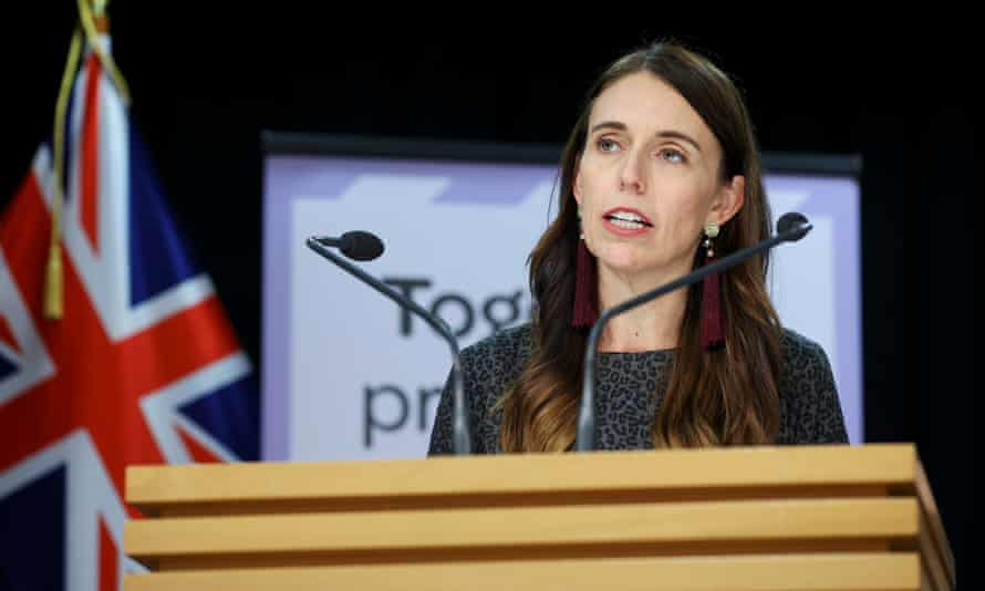 NZ Prime Minister Jacinda Ardern Announces Plans For COVID Travel Bubble With AustraliaWELLINGTON, NEW ZEALAND - APRIL 06: Prime Minister Jacinda Ardern speaks to media during a press conference at Parliament on April 06, 2021 in Wellington, New Zealand. Prime Minister Jacinda Ardern announced that quarantine-free travel between New Zealand and Australia will start on Monday 19 April. The travel bubble will aid economic recovery by safely opening up international travel between the two countries while continuing to pursue a COVID-19 elimination strategy. (Photo by Hagen Hopkins/Getty Images)