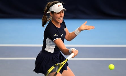 Johanna Konta lost 6-4, 6-3 against Jodie Burrage in the Battle of the Brits team tournament