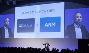 SoftBank CEO Masayoshi Son explains the takeover decision at a conference