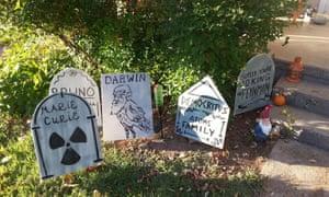 History of science 'graveyard' Halloween decoration