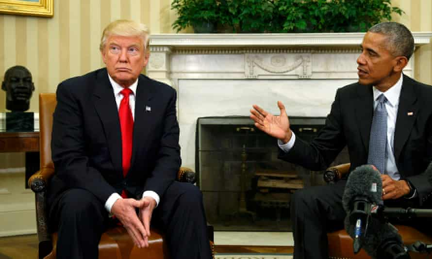 President Obama meets with President-elect Trump