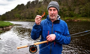 Kevin Patterson, salmon ghillie on the Tweedswood beat.