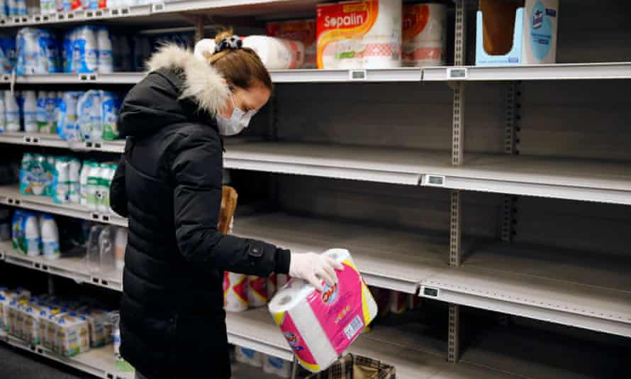 Shelves have been left empty as France grapples with coronavirus