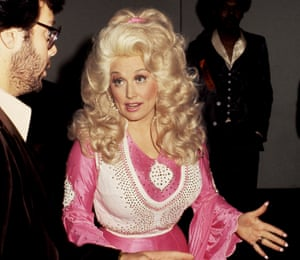Parton at the Grammys in 1977.