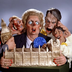 Owen depicted as one of the two Davids on Spitting Image