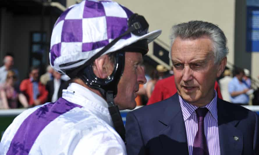 Jim Bolger (right) and jockey Kevin Manning, who is married to the trainer's daughter, Una.