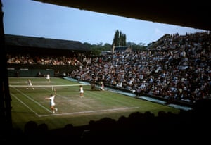 A doubles match on Court One in 1963