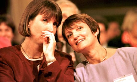 A huge number of lessons for us to draw on … Harriet Harman (left) with the late Tessa Jowell in 1996.