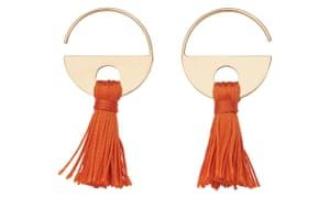 Whistles tassle hoop earring.
