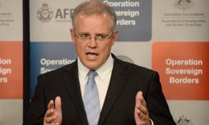 Scott Morrison as immigration minister in 2014