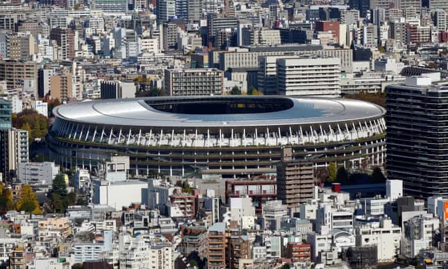 The National Stadium, the main venue of the Tokyo 2020 Olympics, which has been delayed by a year.
