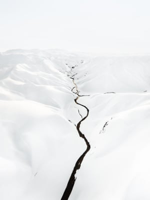 Winter Contrasts (2016) A geothermal mountain range concealed within a thick sheet of snow, Landmannalaugar, Iceland