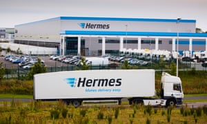 The Hermes distribution base off the M62 at Burtonwood, Cheshire