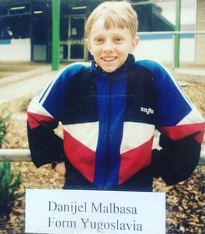 Danijel Malbasa in his first week in Australia, April 1999.