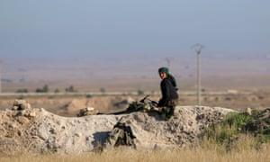 Democratic Forces of Syria fighter, al-Melabiyyah