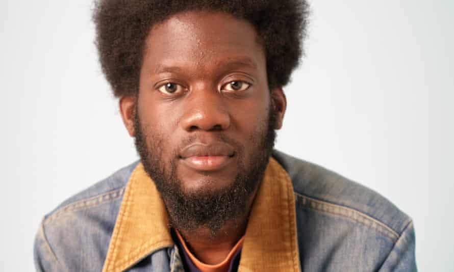 Michael Kiwanuka in his vintage Wrangler denim jacket.