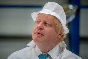 Boris Johnson on the EU referendum campaign tour.