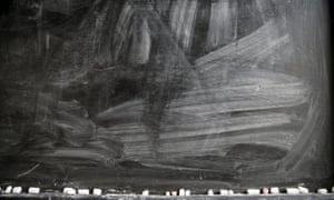 A blackboard with chalk smeared across it