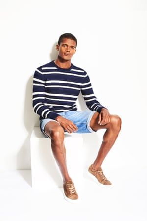 Model wears Relaxed Nautical look