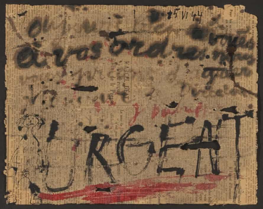 Urgent … Dubuffet's 1944 provocation to Paris.