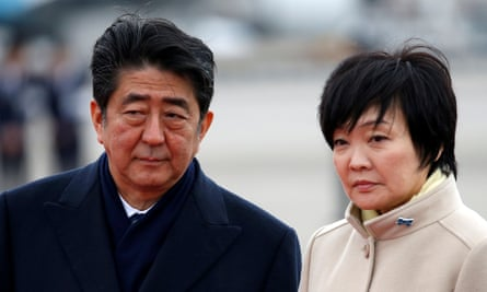 The Japanese prime minister, Shinzo Abe, and his wife Akie