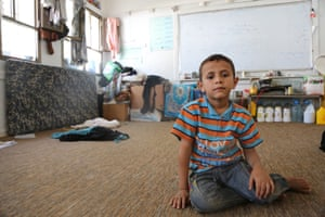 Eight-year-old Mohand was forced to leave his home in Saada to take refuge in this school in Sana'a. UN agencies say that since March, 4.4 million people have received assistance, but this is only a fraction of those who desperately need help.