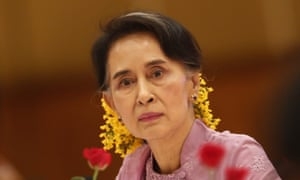 Myanmar's foreign minister Aung San Suu Kyi is legally barred from the presidency but is considered the country's de facto leader.