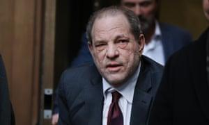 Harvey Weinstein arrives on court on Thursday.