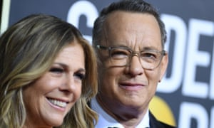 Tom Hanks and his wife, Rita Wilson – seen here at the Golden Globes – have been recovering from Covid-19 in Australia.