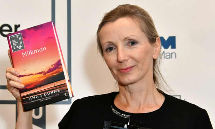 Anna Burns wins 2018 Man Booker Prize for Fiction with her novel 'Milkman', at Awards ceremony announcing winner of the UK's most important literary prize, at The Guildhall, London.