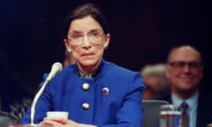 Ruth Bader Ginsburg during her confirmation hearing in Washington, 1993.