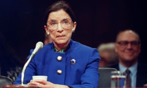 Ruth Bader Ginsburg during a confirmation hearing for the US supreme court in Washington in 1993.