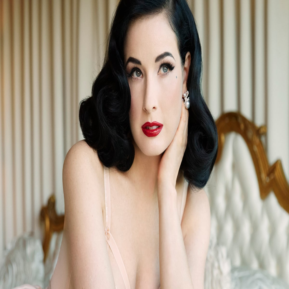 2ac5b6bc00 Dita Von Teese   Staying pale takes some effort in LA