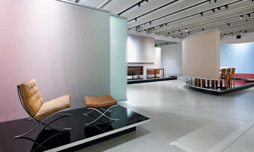 The Mies van der Rohe area of Bauhaus Museum's new exhibition.