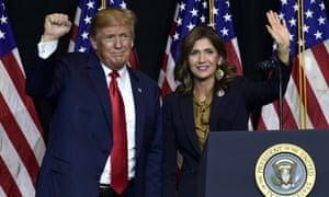Flashback: Donald Trump and Kristi Noem in 2018.