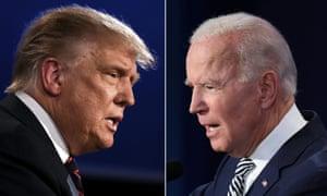 US President Donald Trump and Democratic Presidential candidate former Vice President Joe Biden