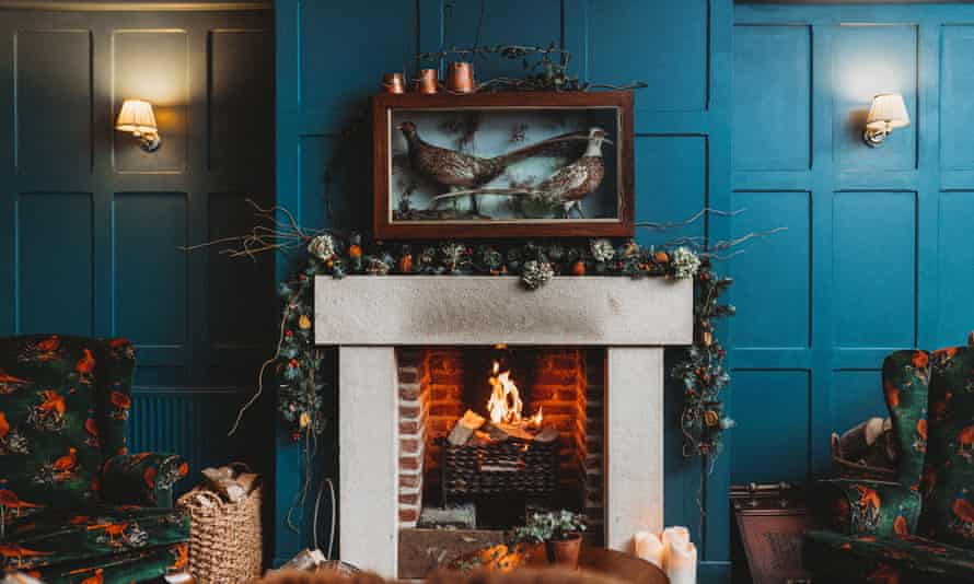 Relax by the fire: the Owl at Hawnby.