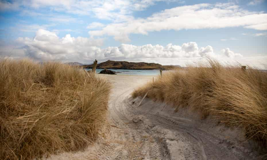 Follow the path: sand dunes on Inishbofin Island on the Galway coast.