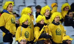 Australian fans at the Bledisloe Cup.