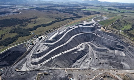 An open-cut coalmine in the Hunter Valley