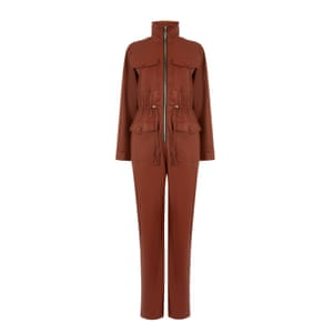 Leather jumpsuit, £95, warehouse.co.uk.