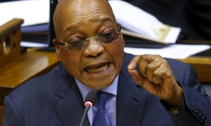 President Jacob Zuma answers parliamentary questions in Cape Town