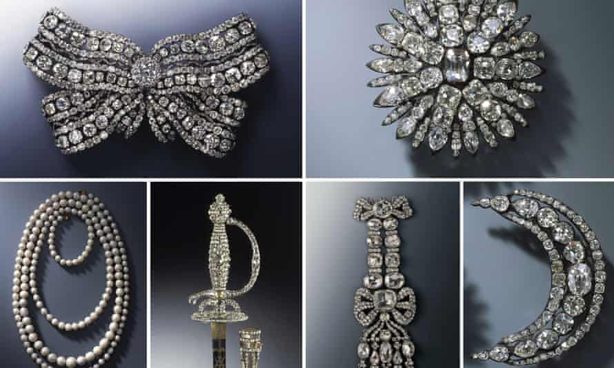 Some of the jewels stolen from the Green Vault Museum in 2019.