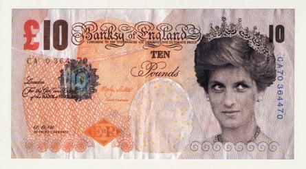 Banksy, Di-faced tenner