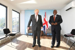 Boris Johnson has held a meeting this morning with Cyril Ramaphosa, the president of South Africa.