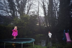 Trampoline 2012, Billingham's portrait of two of his children.