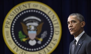 Barack Obama<br>President Barack Obama speaks in Washington Thursday, Dec. 10, 2015, in Washington. While the White House condemns Donald Trump's call for a ban on Muslim immigrants, President Barack Obama may only have himself to blame if a President Trump ever tries to put his plan into action. (AP Photo/Susan Walsh)