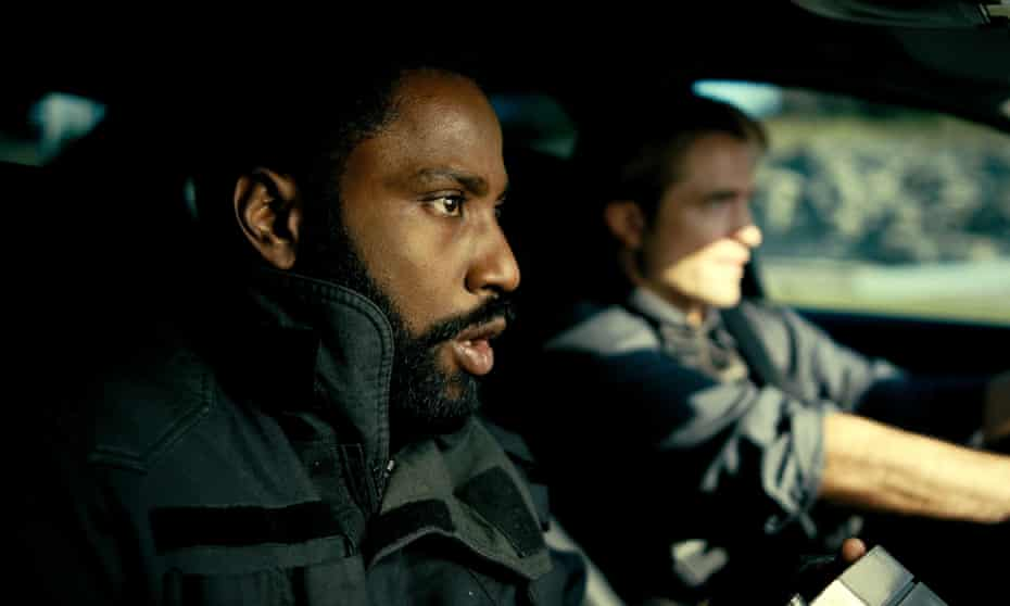 Turn back time ... John David Washington, left, and Robert Pattinson in Tenet.