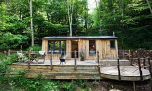 Rob Penn's cabin, the Wood Shack, near Abergavenny